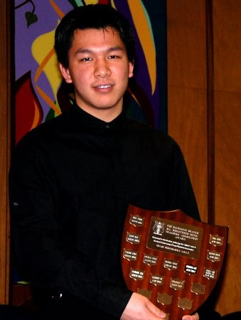 Jonathan Li (Age 16) 17 January 2010 Winner-BC Registered Music Teachers Richmond Branch Trophy for receiving the highest RCM examination mark for the A.R.C.T. Performers exam - August 2009 session. Congratulations Jonathan!