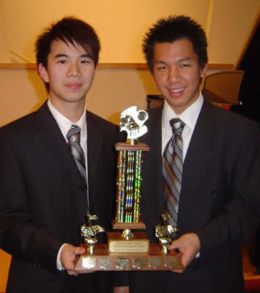 Isaac Ho and Jonathan Li - Richmond Music Festival 2008 - Vic Cristobal Ensemble Trophy Winners