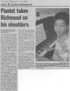 Kenneth Lee-Richmond Review News Article-25 September, 2008